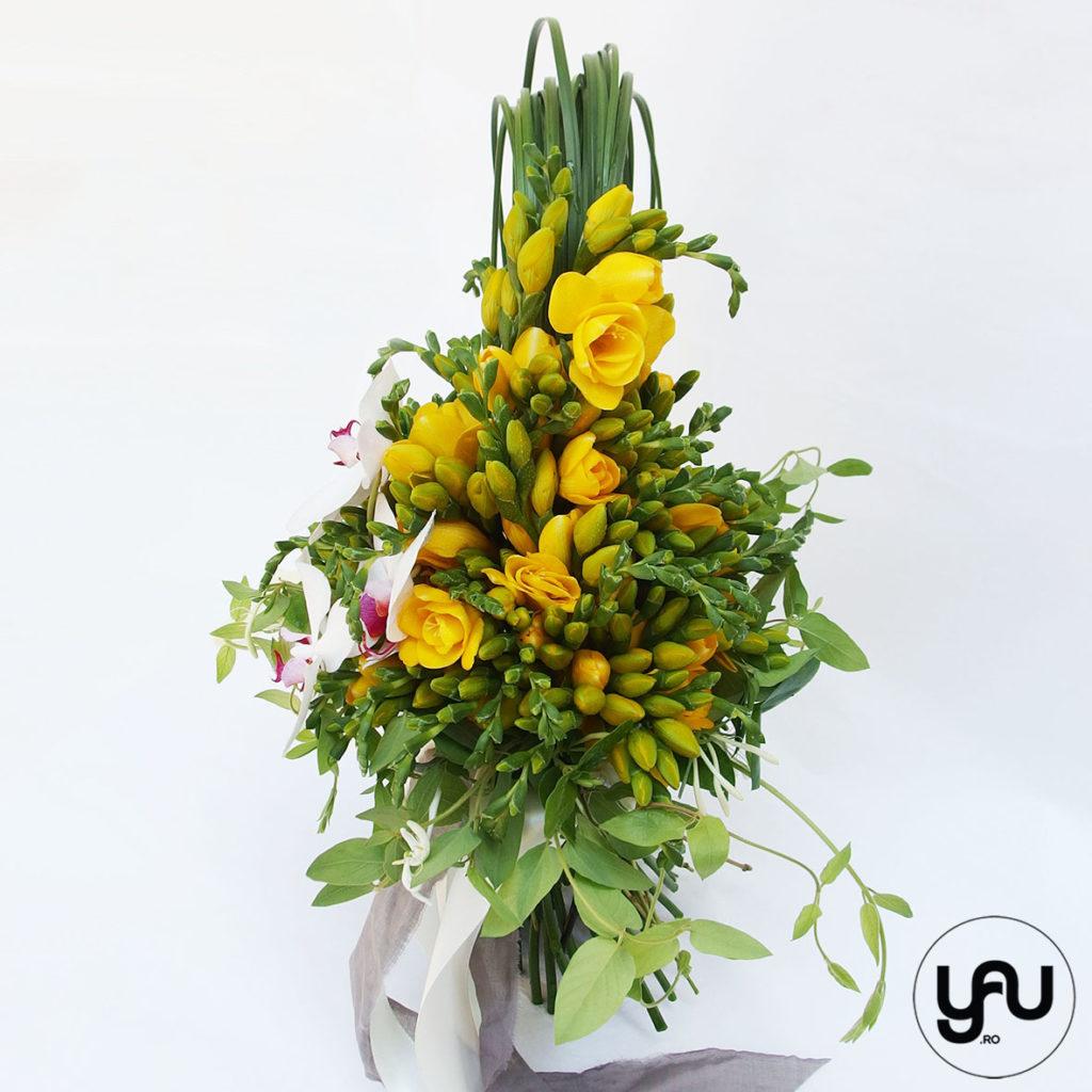 Buchet frezii orhidee si caprifoi YaUconcept ElenaTOADER