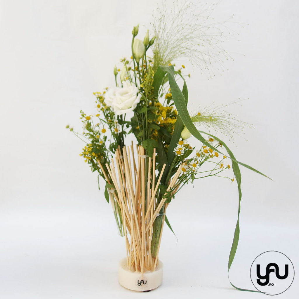 Flori galbene structuri YaU din ceara si bete YaUconcept YaUevenimente ElenaTOADER