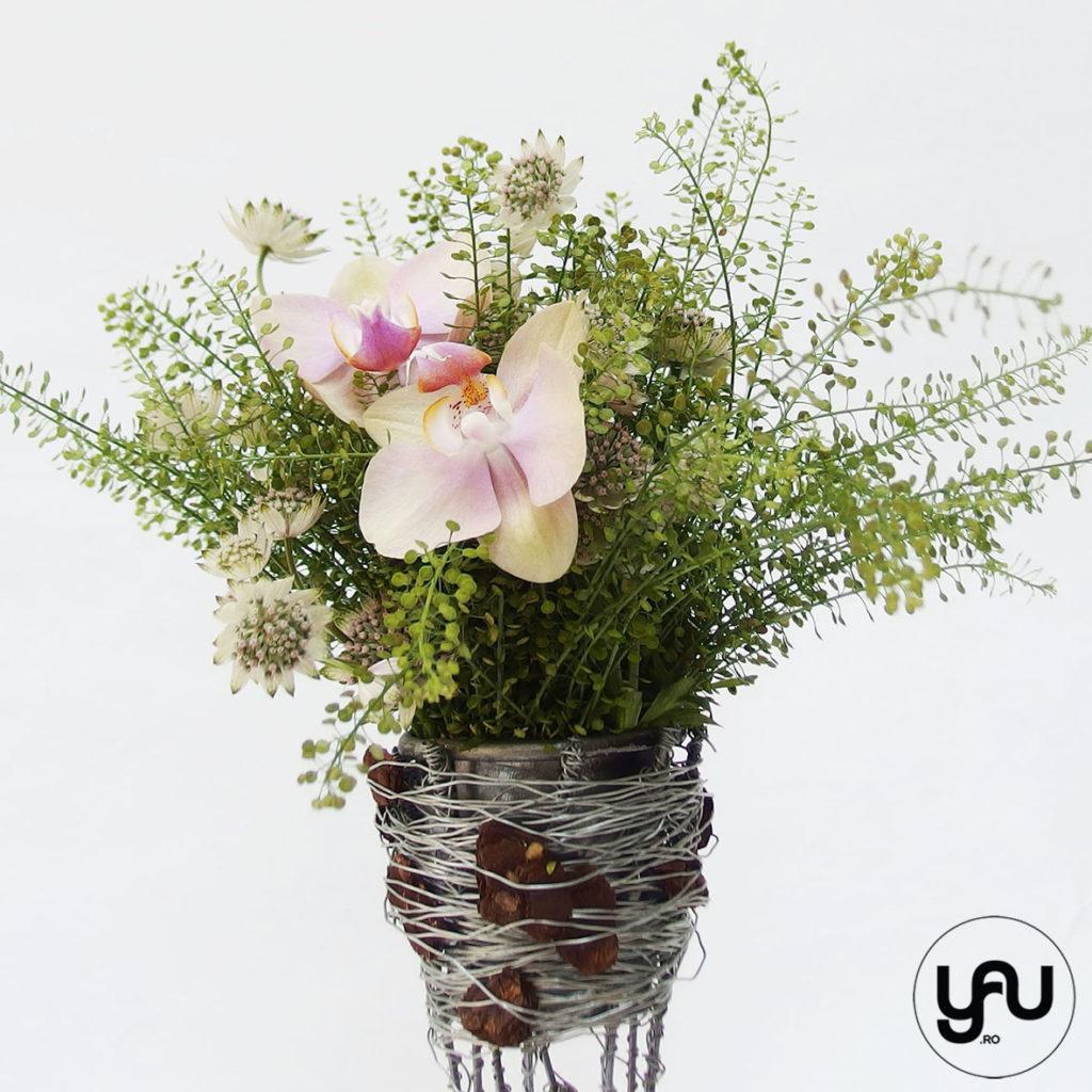 Pink orchids & YaU floral structures YaUconcept ElenaTOADER