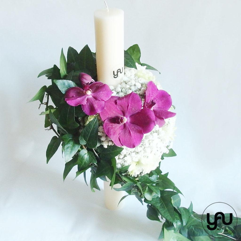 Lumanare botez orhidee Vanda YaUconcept ElenaTOADER