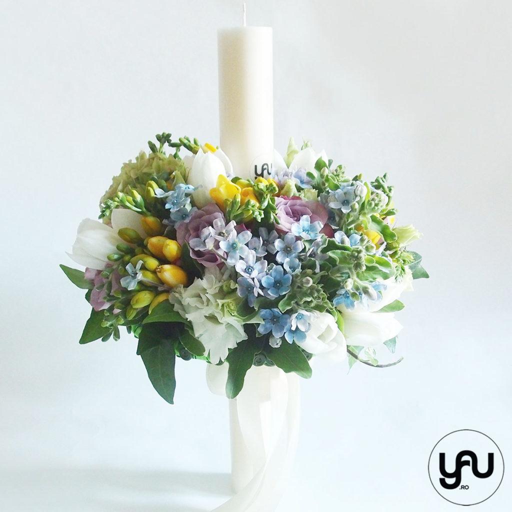 Lumanare botez flori primavara YaUconcept ElenaTOADER
