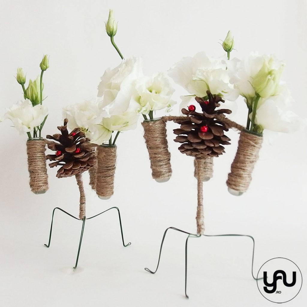 Flori albe pentru spiridusii Craciunului YaUconcept ElenaTOADER