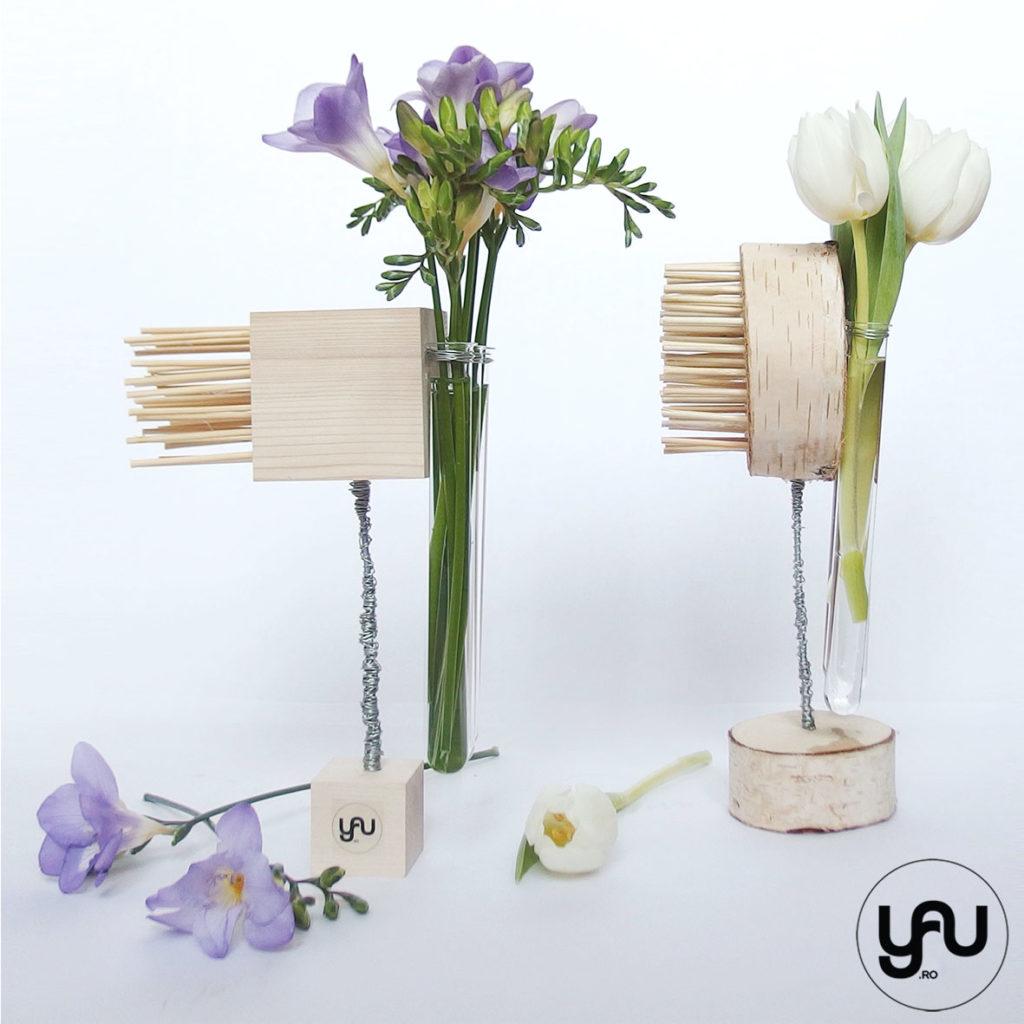 Aranjament floral geometric FREZII si LALELE YaU Spring 2019 YaU Concept Elena TOADER
