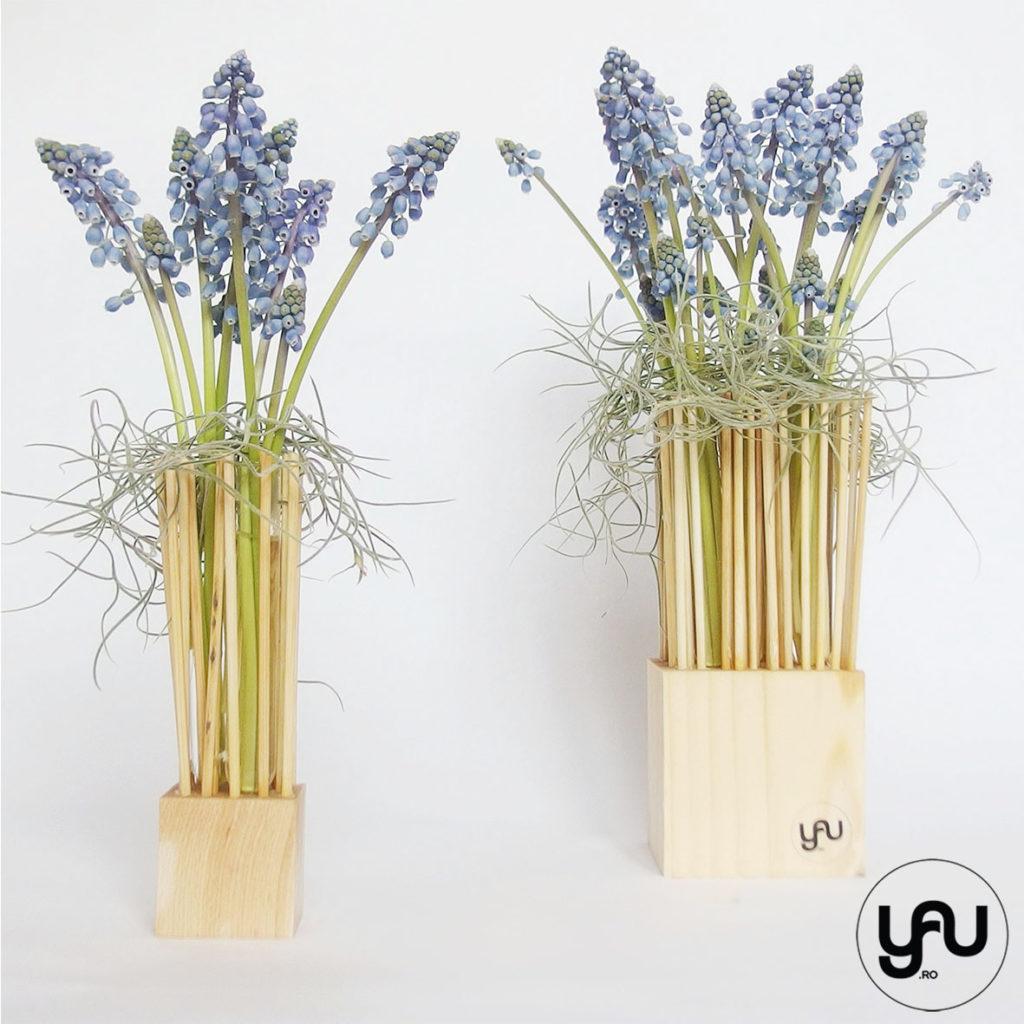 Aranjament flori PRIMAVARA MUSCARI YaU Spring 2019 YaU Concept Elena TOADER