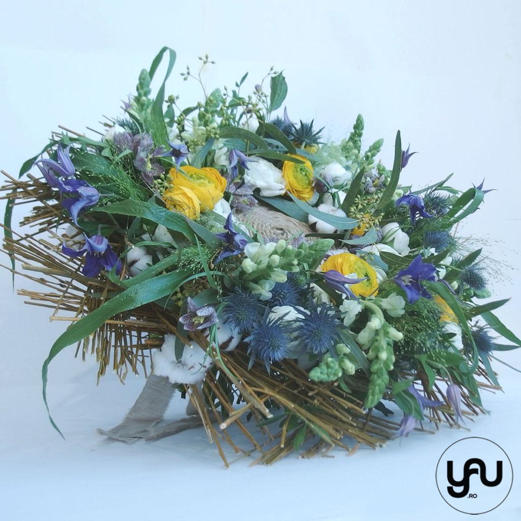 Buchet flori albastre YaU Concept Elena TOADER