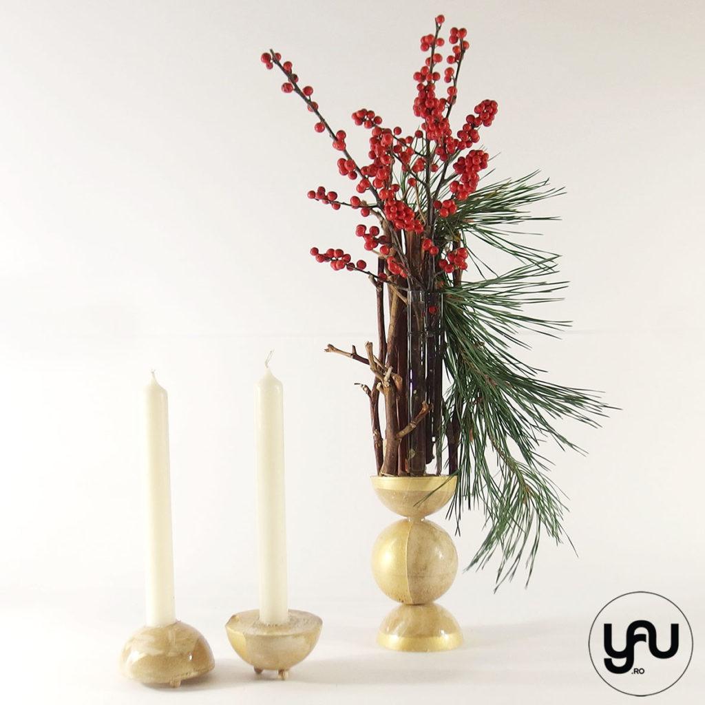 Aranjament floral CRACIUN ilex si pin | YaU Craciun 2019 yau.ro yau concept elena toader