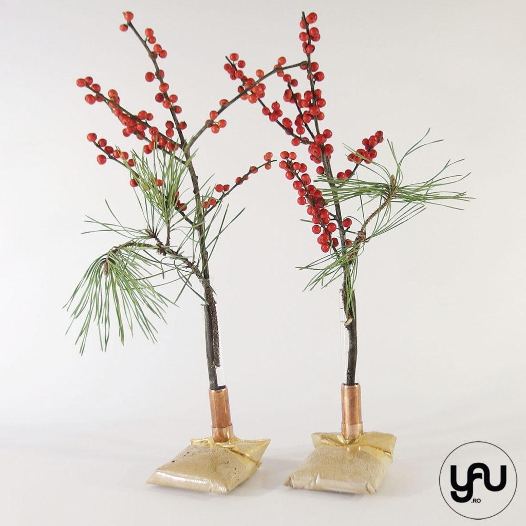 Aranjamente florale Craciun | Sfesnice Craciun din beton | YaU Craciun 2019 yau.ro yauconcept Elena TOADER