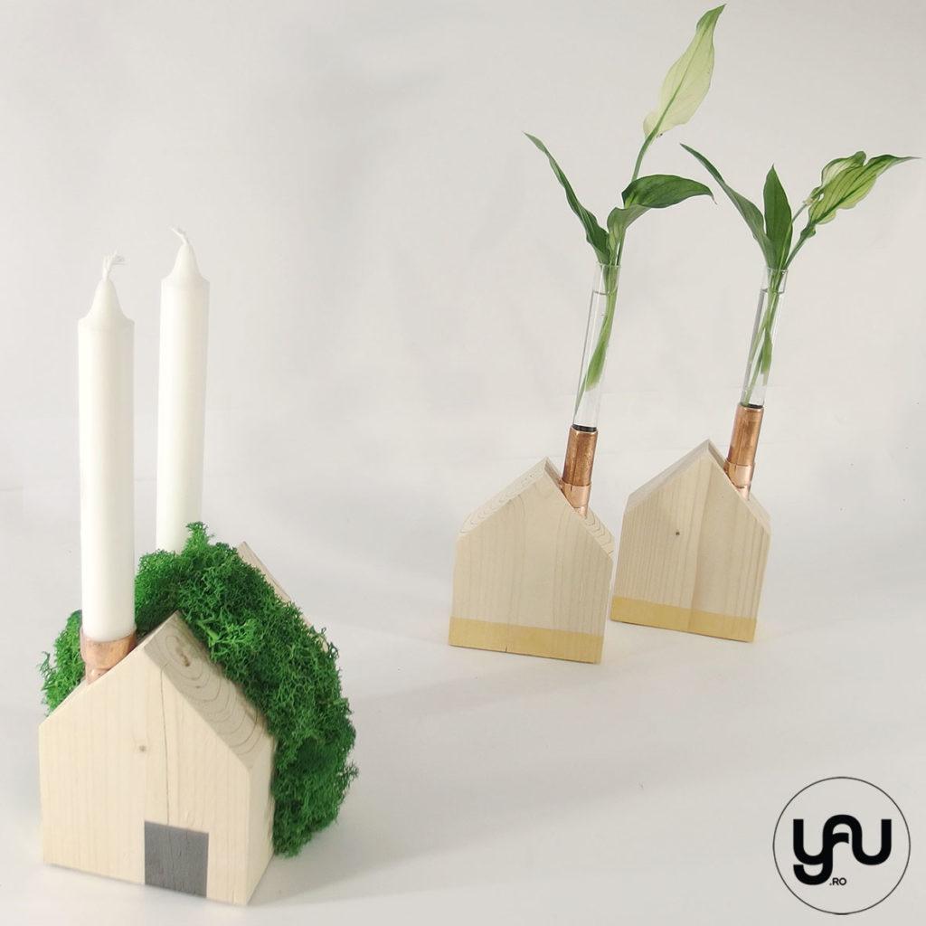 ORASUL VERDE, suport lumanare CRACIUN casuta licheni si plante | YaU CRACIUN 2019 yau.ro YaU Concept Elena TOADER