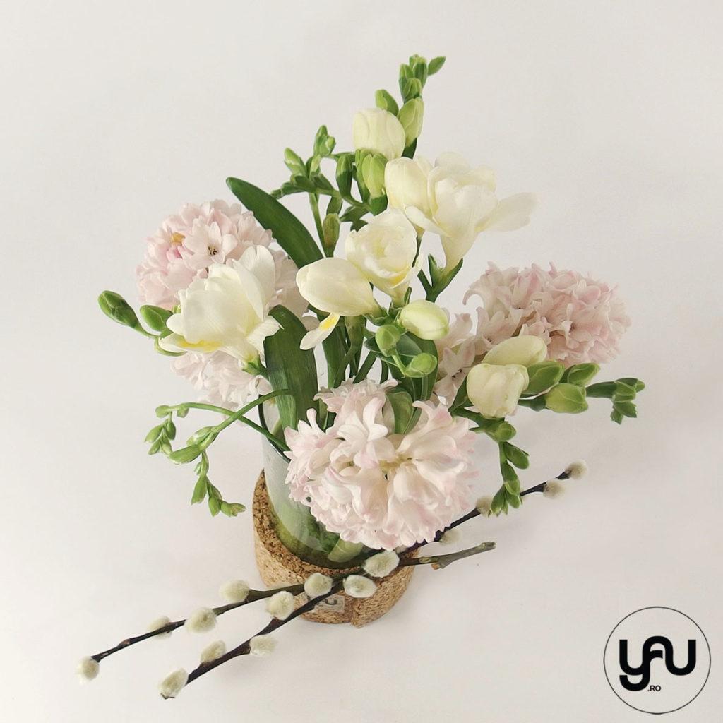 Aranjament floral frezii si zambile   YaU SPRING 2020 yau.ro yauconcept elenatoader
