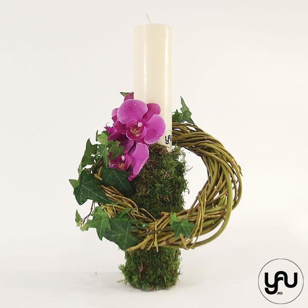 Lumanari cununie si botez orhidee si muschi yau.ro yau concept elena toader