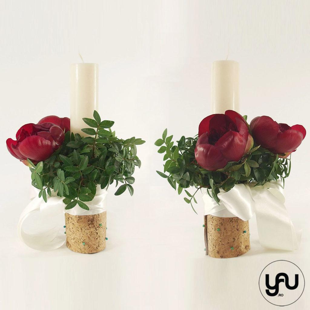 BUJORI pentru lumanari de nunta yau.ro yau concept elena toader