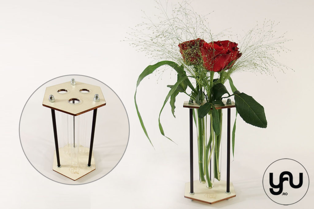 Aranjamente trandafiri in structuri geometrice altF.ro - HEXAGON yau.ro altF.ro Elena TOADER