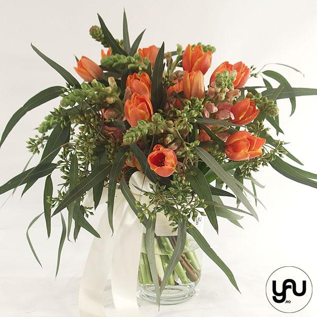 Buchet flori portocalii