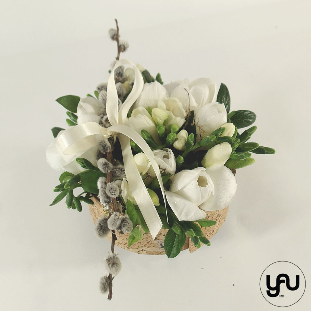 Aranjament flori albe