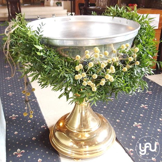 Geometrie VERDE, pentru BOTEZ - ghirlanda cristelnita lumanare botez