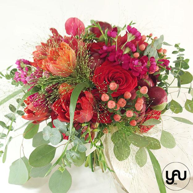 Flori rosii pentru NUNTA