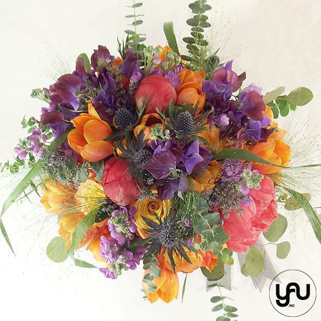 Flori portocalii pentru nunta