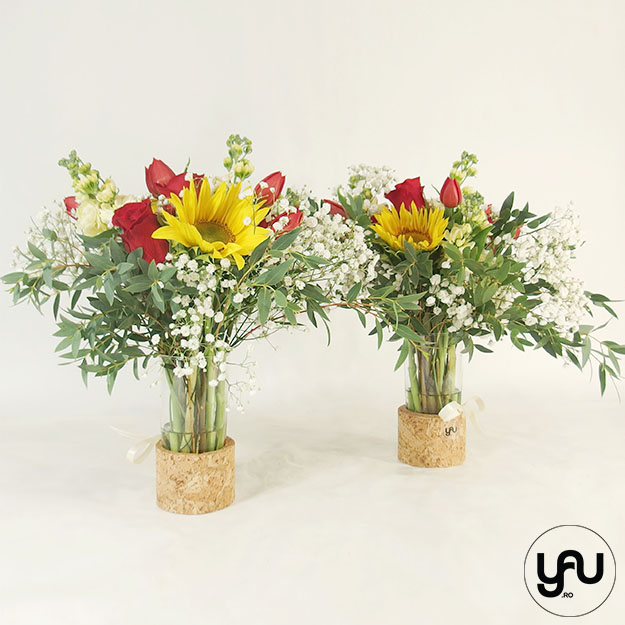 Din nou la SCOALA cu flori colorate